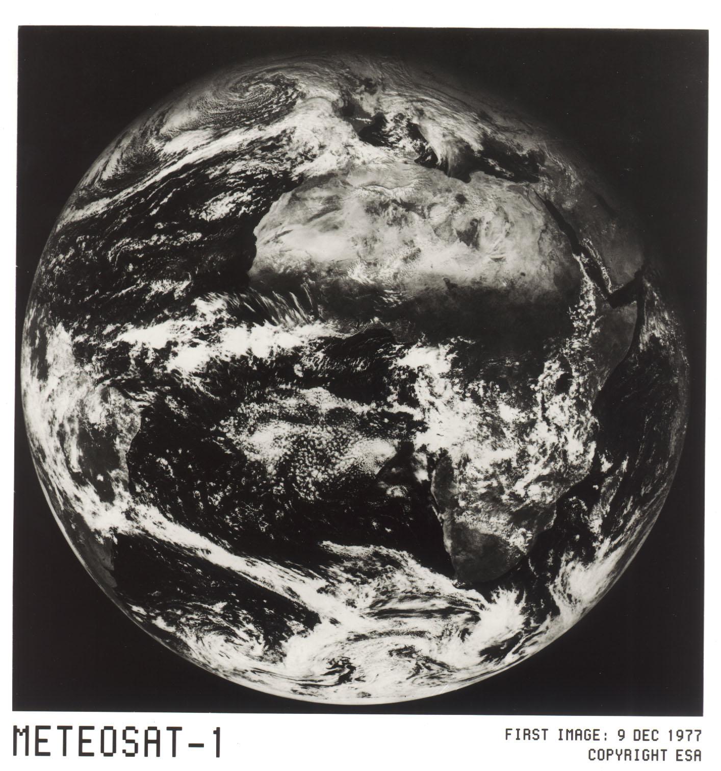 Satellite Meteosat - Meteosat-1 - Première image - First image - ESA - 9 décembre 1977 - Eumetsat