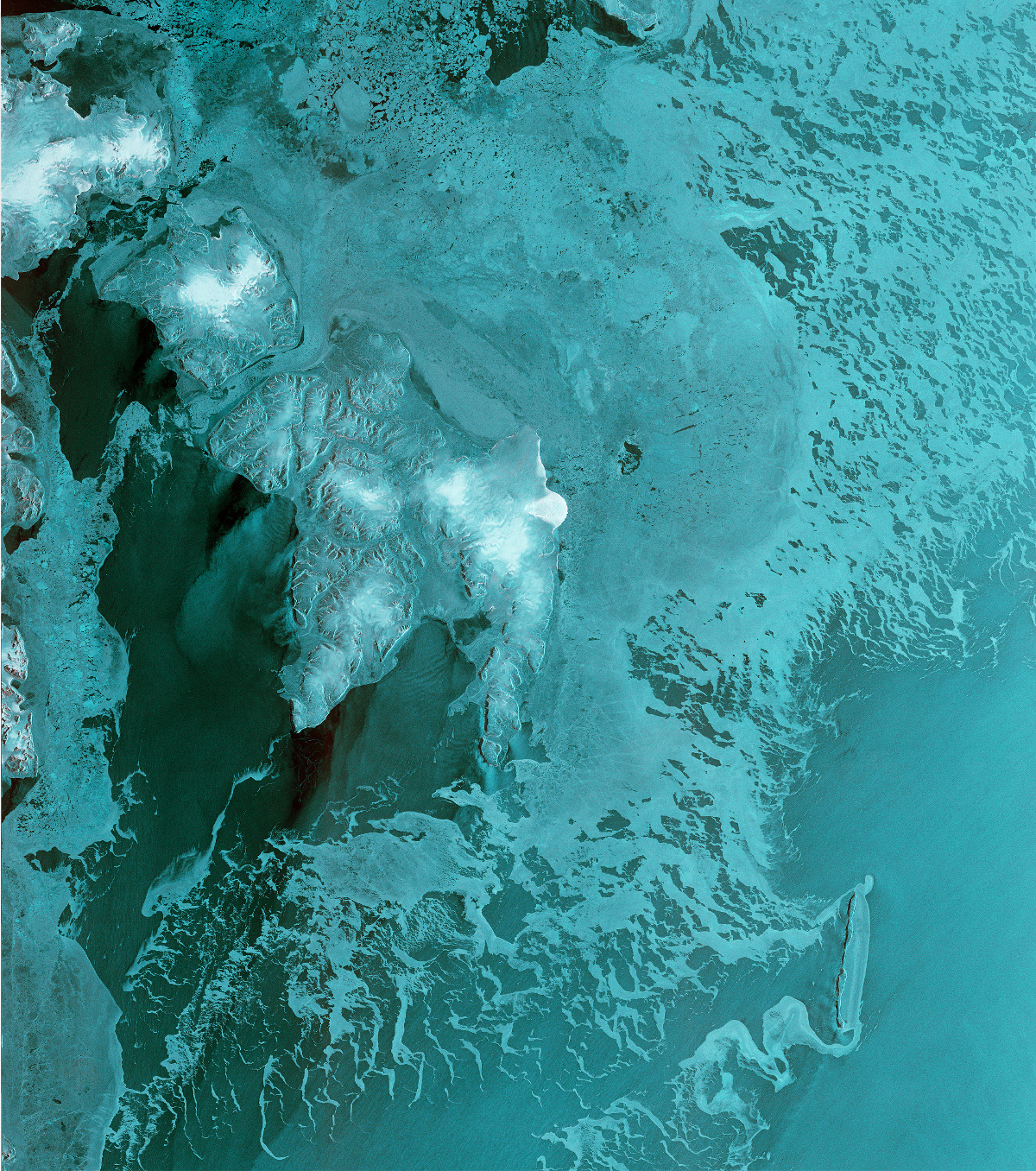 Sentinel-1B - First image - Première image - Glacier Ausfonna - Svalbard - Norvège - Norway - ESA - Copernicus