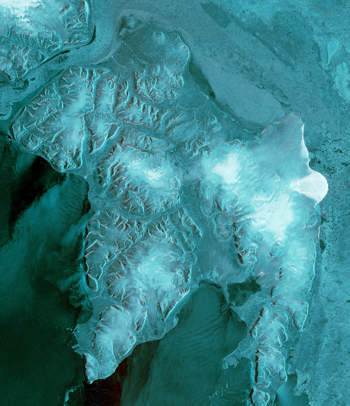 Sentinel-1B - Première image - First image - Edge island - Edgoya - ESA - Copernicus - SAR - Bande C