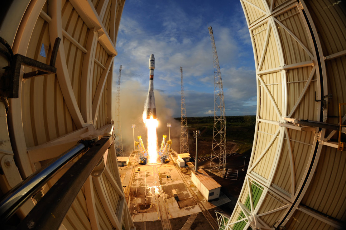 Arianespace - décollage Soyouz - lancment VS14 - Sentinel-1B - Licroscope - FlyYourSatellite - CSG - Guyane - CNES - ESA