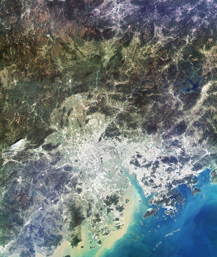 Gaofen-4 - Zhu Jiang - Rivière des perles - Delta - Observation de la Terre en orbite géostationnaire - satellite chinois - GEO - Janvier 2016