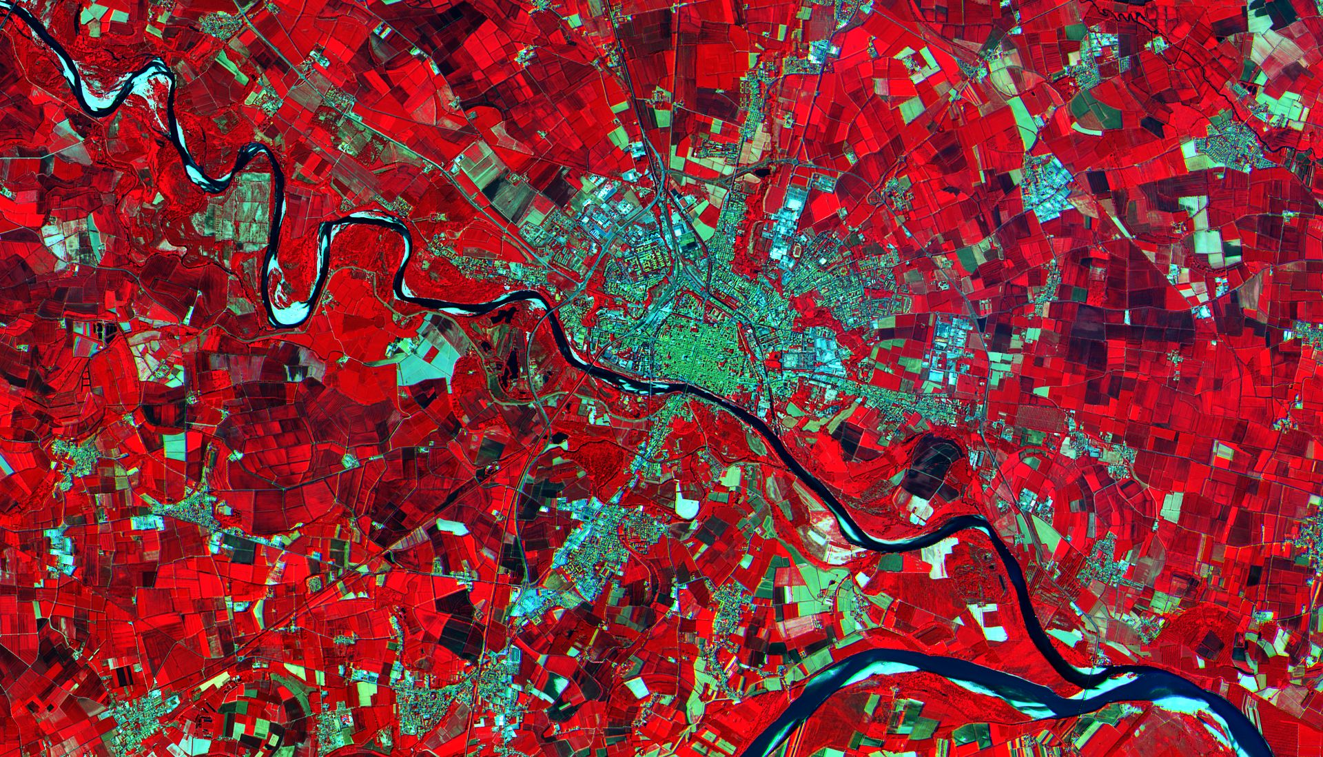 Sentinel-2A - First image - Première image - Italie - Pavie - 27 juin 2015