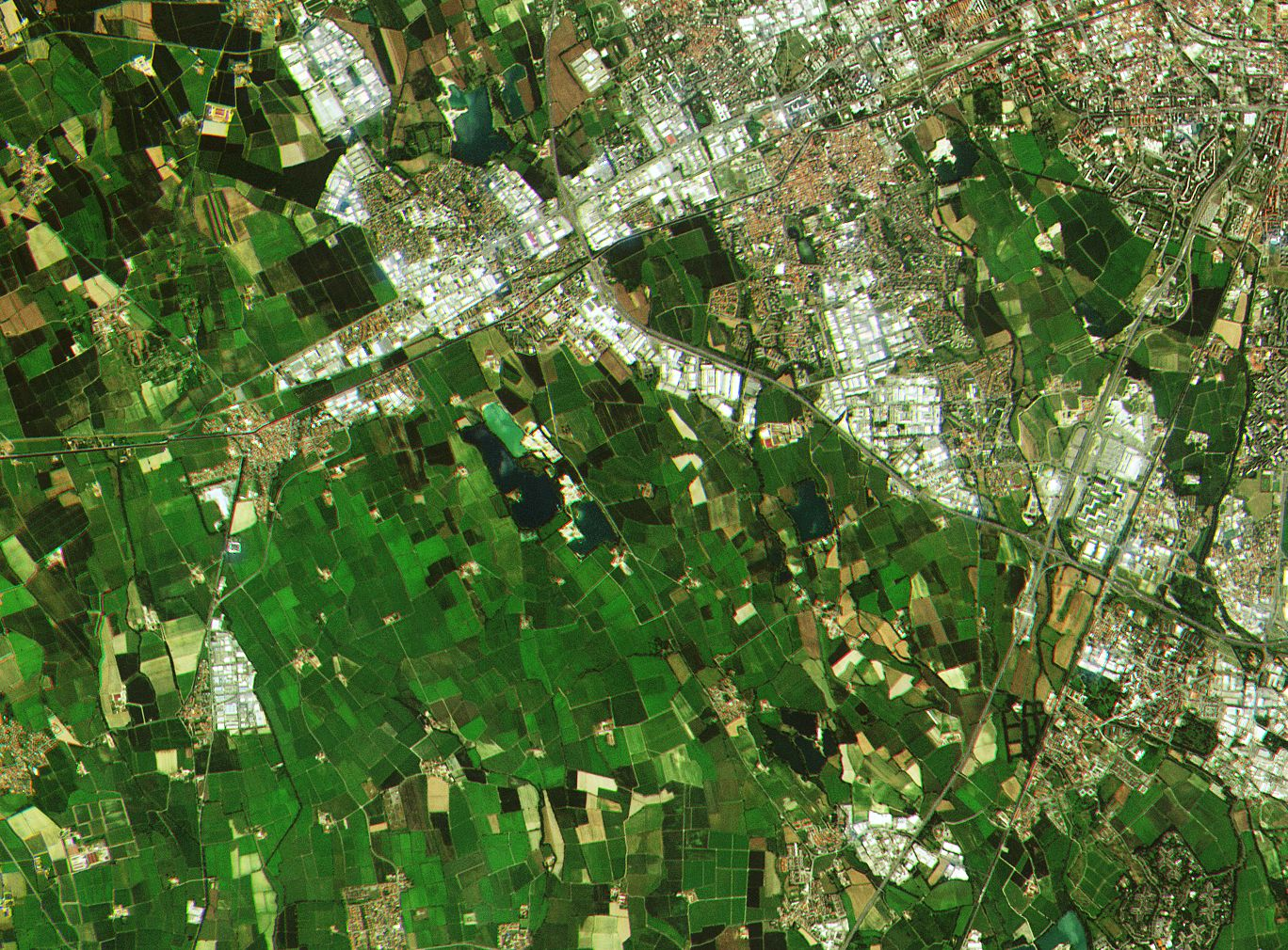 Sentinel - Sentinel-2A - Première image - First image - Copernicus - ESA - Europe - GMES - Milan - Agriculture - Occupation des sols - urbain