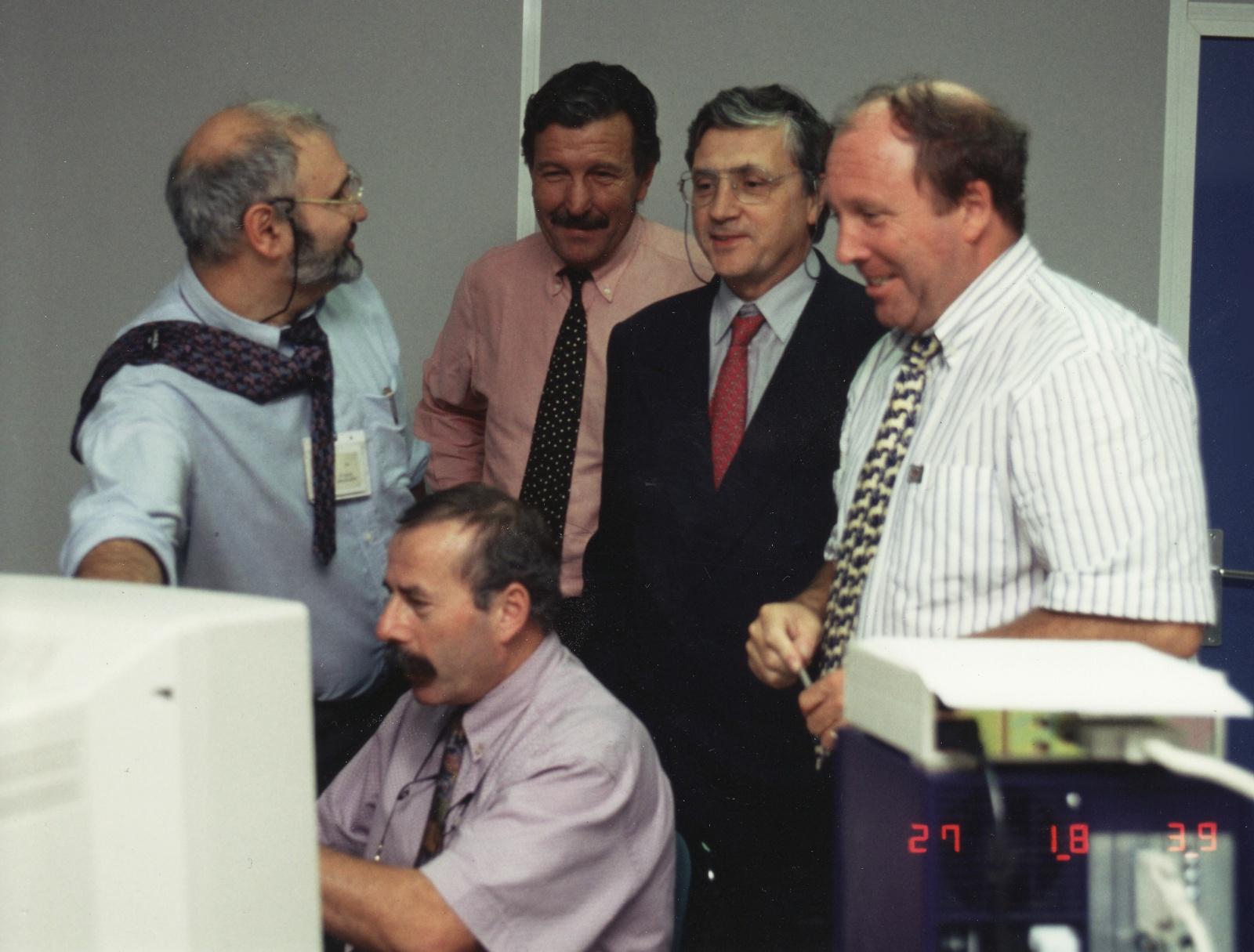 Lancement SPOT-3 - Première image SPOT-3 - 27 septembre 1993 - CNES - Spot Image - Philippe Delclaux - Jean-Claude Cazaux - Gérard Brachet - Michel Courtois