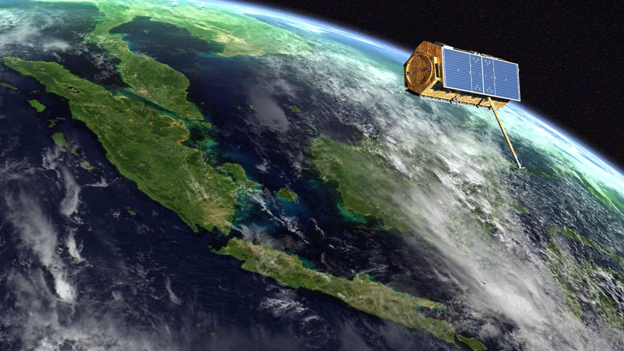 TerraSAR-X - satellite - SAR - radar - vue d'artiste - TanDEM-X - DLR - Airbus DS - Airbus Defence and Space