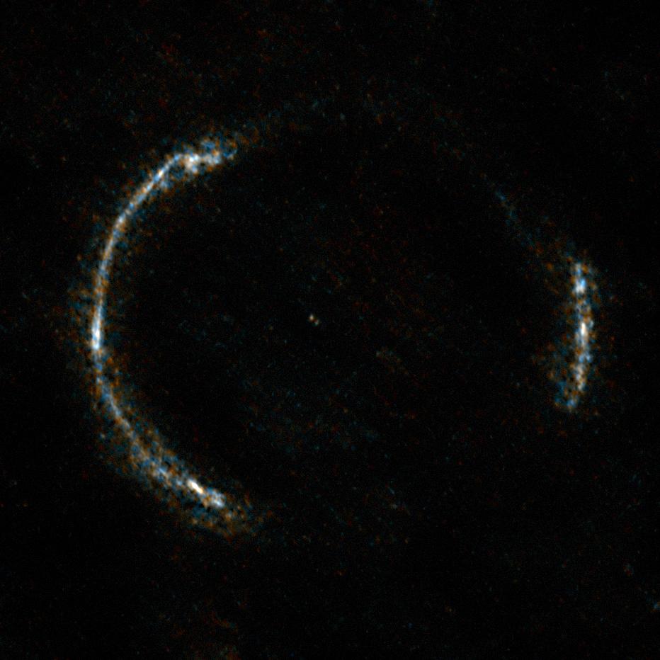 Galaxie SDP.81 - vue par le radiotélescope ALMA - lentille gravitationnelle - anneau Einstein - HATLAS J090311.6+003906