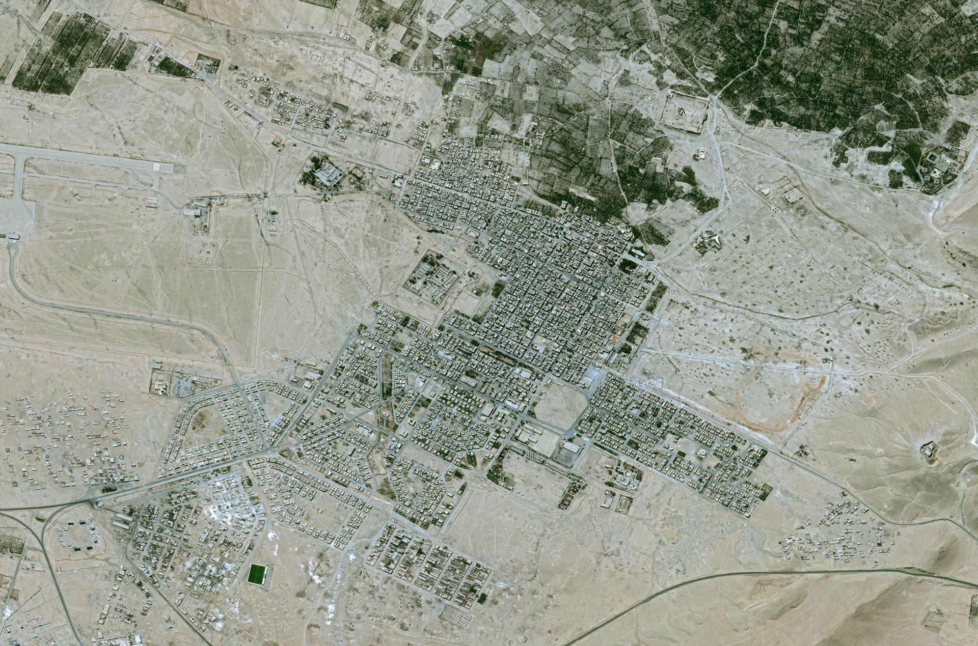 Satellite Pleiades - Palmyre - Syrie - temple de Baalshamin - avant destruction par EI - 22 mai 2015 - CNES – Airbus Defence and Space - UNITAR