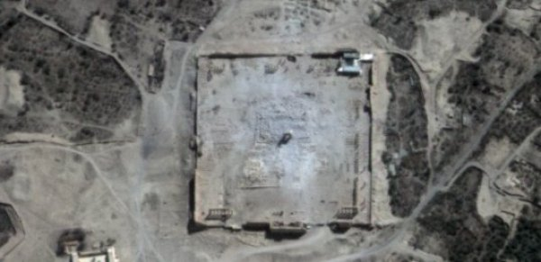 Palmyre - Syrie - Palmyra - Temple de Bel - Temple de Baal - Destruction - Etat islmaique - ISIS - Satellite - Pléiades - CNES - Airbus DS - UNITAR - UNOSAT